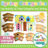 Categories in Springtime - Printable Activity (Freebie)