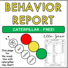 Caterpillar Behavior Report