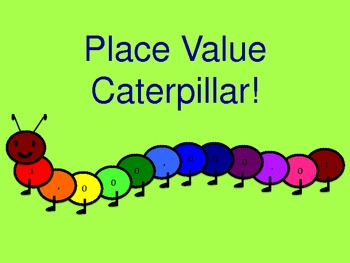 Caterpillar Whole Number Place Value Wall Hanging (rainbow)