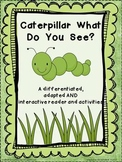 Caterpillar differentiated or adapted book and activities