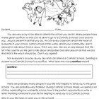 Catholic School's Week - Letter Writing Activity