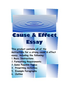 Cause and Effect Writing Activity