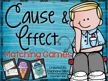 Cause and Effect Matching Games Packet