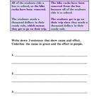 Cause and Effect Mini Lesson Handout
