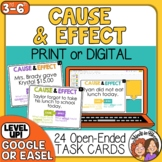 Cause and Effect Task Cards: 24 Cards to Generate Cause an