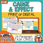 Cause and Effect Task Cards: 24 Paragraph Cards