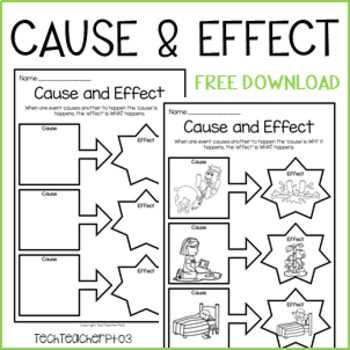 Cause and Effect Worksheet - Science, History, Civics