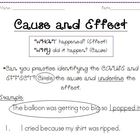 Cause and effect practice graphic organizer!