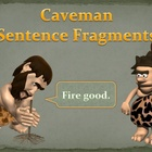 Caveman Themed Sentence Fragments Interactive PowerPoint lesson