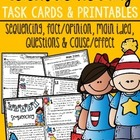 Celebrate Reading Task Cards & Printables {Grades 1, 2, & 3}