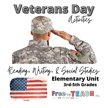 Veterans Day Grades 3-5 (33 pages!) Activities & Worksheets