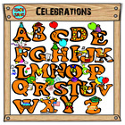 Celebrations & Graduation Alphabet Clip Art