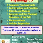 Cell Structure, Function and Physiology CD - 5 Complete units