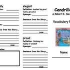 Cendrillon Vocabulary Foldable