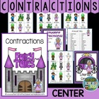 "Center Game ""Contractions"" Grammar Skill / Word Work / Com"