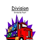 Center Game Math Division ~ Divide By Four - 4! ~ Great fo
