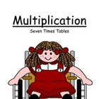 Center Game ~ Multiplication Seven (7) Times Tables ~ 52 Pages!