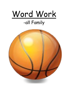 "Center Game ""The -all Family!"" Word Work / Phonics / Spell"