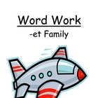 "Center Game ""The -et Family!"" Word Work / Phonics / Spelling Unit"