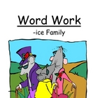 "Center Game ""The -ice Family!"" Long i ~ Word Work / Phonic"