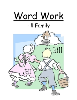 "Center Game ""The -ill Family!"" Word Work / Phonics / Spell"