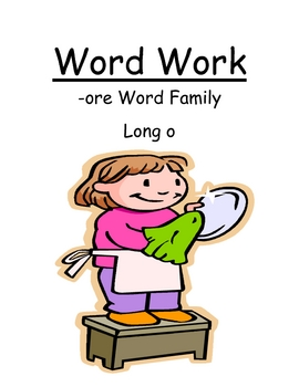 "Center Game ""The -ore Family!"" Long O Word Work / Phonics"