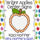 Center Signs {Bright Apple}
