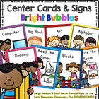 Center Signs and Cards - Programmable 2 in 1 set (Bright Bubbles)