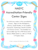 Center Signs that are NAEYC Accreditation Friendly