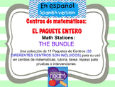 Math Stations: THE BUNDLE IN SPANISH Centros de matemática