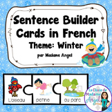 C'est L'Hiver!  Winter Themed Silly Sentence Builders in French