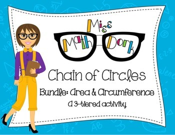 Chain of Circles Bundle: 3-tier: Finding Area & Circumference of a Circle