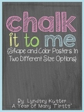 Chalk It To Me! {Color and Shape Posters}