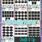 Chalk-It-Up Chalk-Style Frames Clipart Mega Bundle