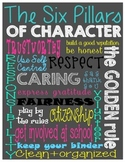 Chalkboard Art, Subway Art, Character Traits Poster