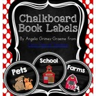 Chalkboard Book Labels