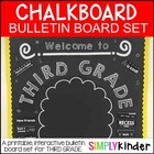 Chalkboard Bulletin Board - First Day of Third Grade