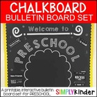 Chalkboard Bulletin Board - Welcome to Preschool