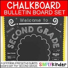 Chalkboard Bulletin Board - Welcome to Second Grade