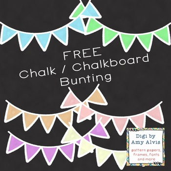 Chalkboard Bunting - 6 different images - FREE