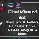 Chalkboard Classroom Combo Pack {white}