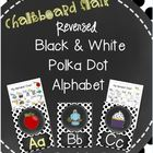 Chalkboard Flair Reversed Black and White  Polka Dot Alpha