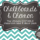 Chalkboard and Chevron, Oh My! EDITABLE Old School Classro