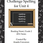 Challenge Spelling Unit 4 for Reading Street Grade 2 2011