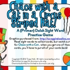 Chaos with a Cat in a Circus Striped Hat Primer Sight Word Game