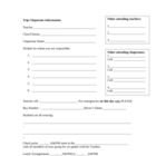Chaperone Trip Organization form