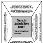Character Analysis Book Report with 4 Activity Choices
