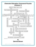 Character Education Crossword Puzzles (Volume 1) (FULL VERSION)
