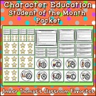 Character Education for Student of the Month Packet