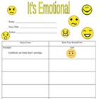 Character Emotions & Post Card Activity Worksheets